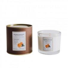 """Aromaterapinė sojų vaško žvakė """"Apelsinas"""""""