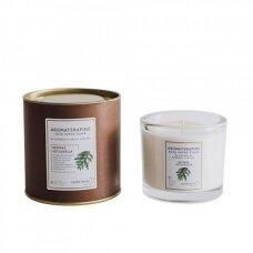 """Aromaterapinė sojų vaško žvakė """"Kedras"""""""
