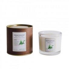 """Aromaterapinė sojų vaško žvakė """"Mėta"""""""